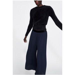 Zara flowy navy pants